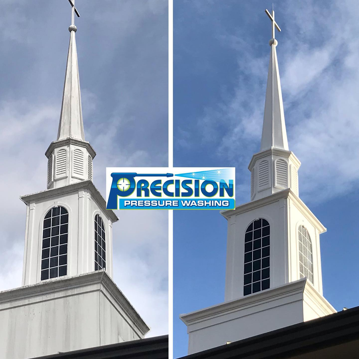 Church Steeple Cleaning at Grow Church in Woodstock, GA