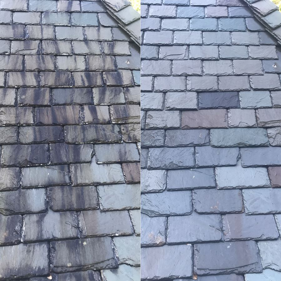 Slate Roof Cleaning of St. Ives County Club in Johns Creek, GA