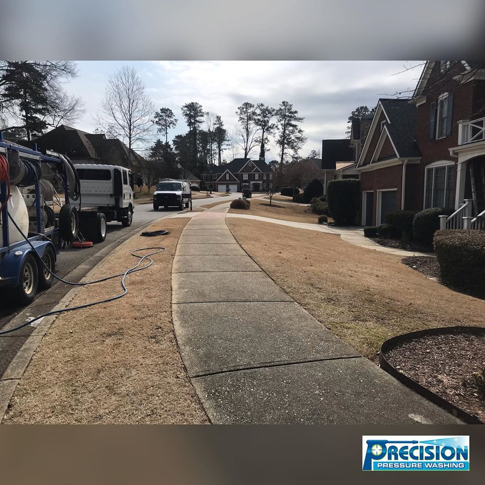 Pressure Washing for Woodcliff Subdivision HOA in Sandy Springs, GA